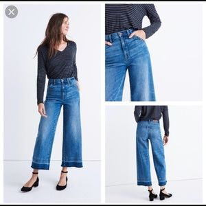 Wide leg Madewell Jeans